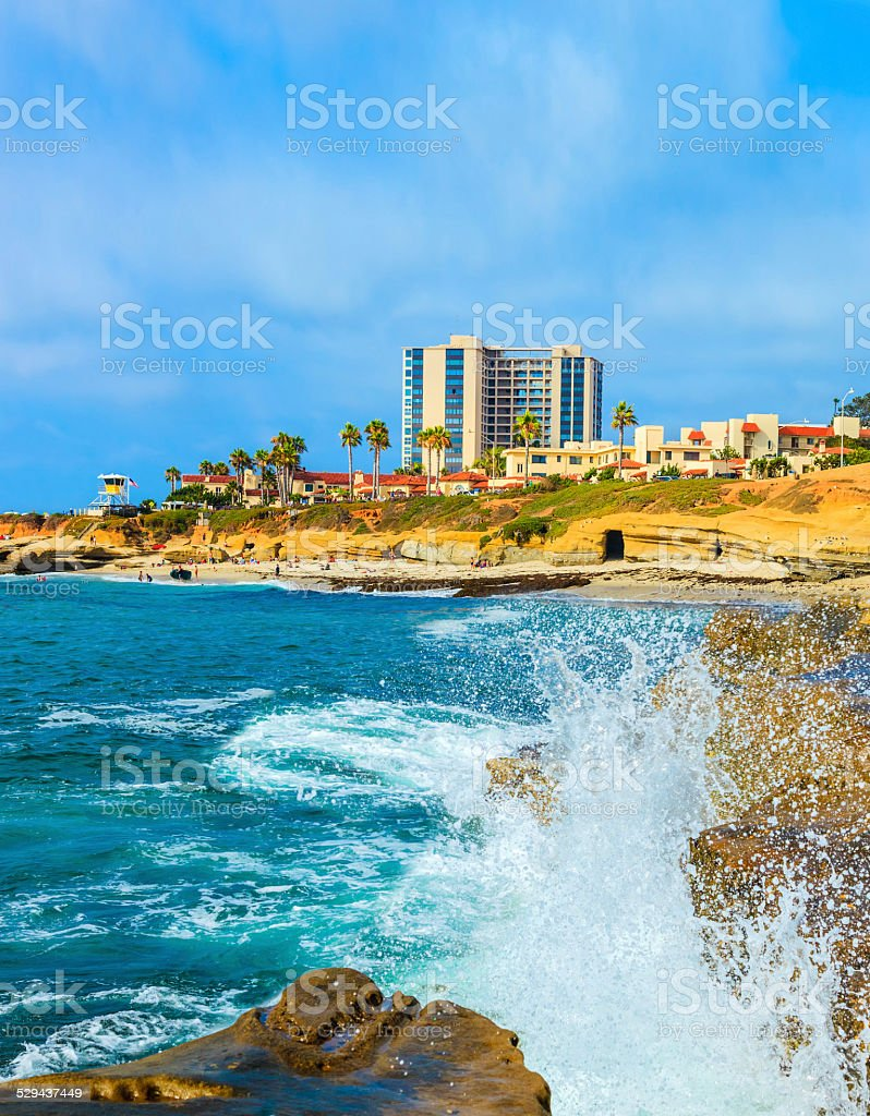 La Jolla coastline in Southern California,San Diego stock photo