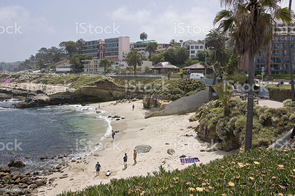 La Jolla Cove and Beach stock photo