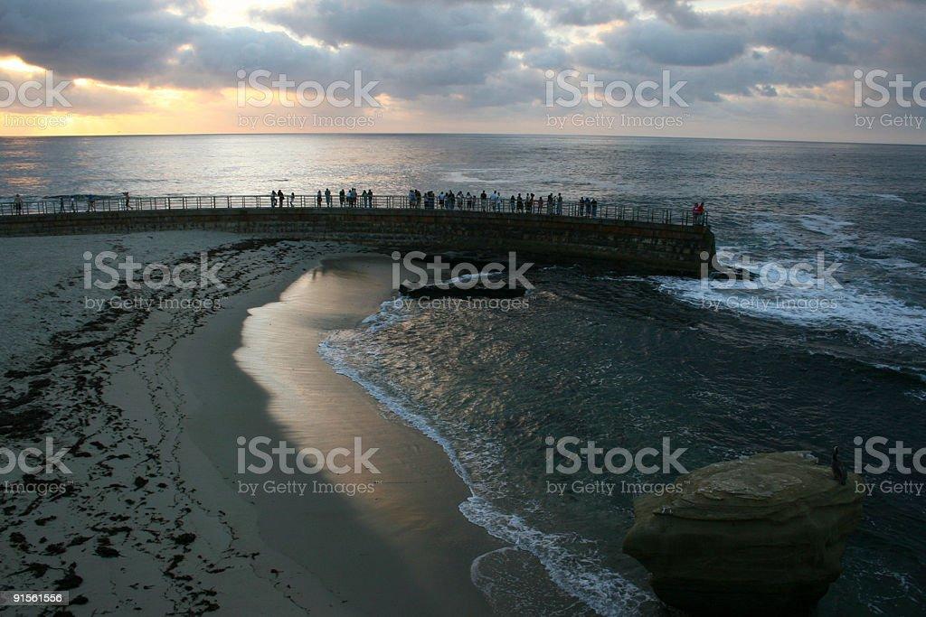 La Jolla Cove at Sundown stock photo