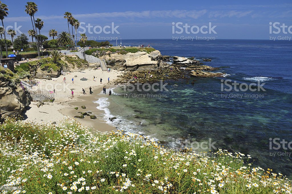 La Jolla Cove Beach at San Diego stock photo