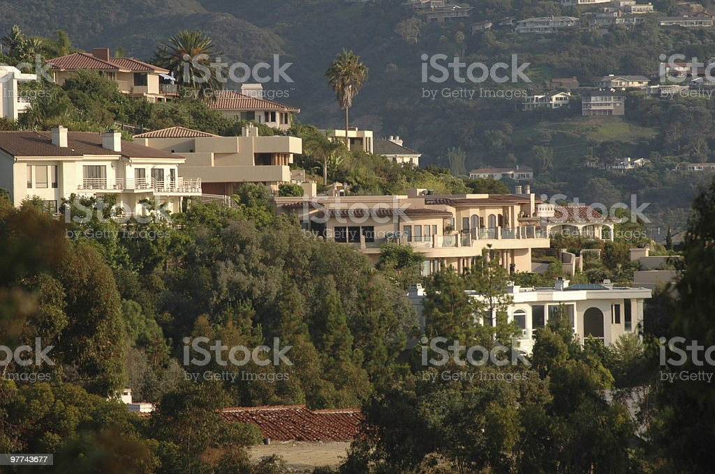 La Jolla Hillside Homes royalty-free stock photo