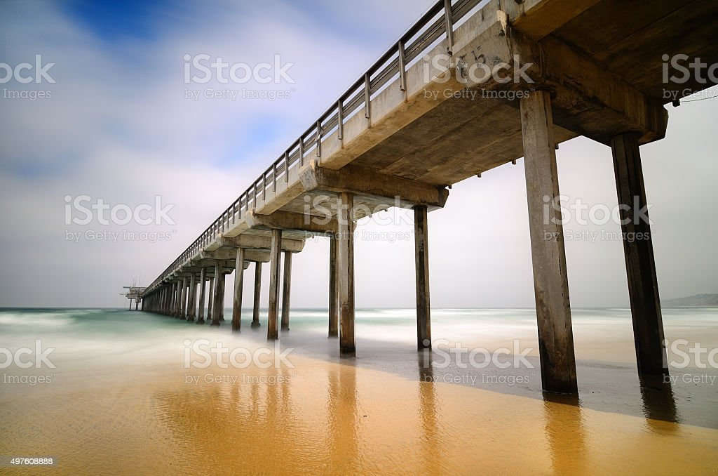 La Jolla Pier stock photo