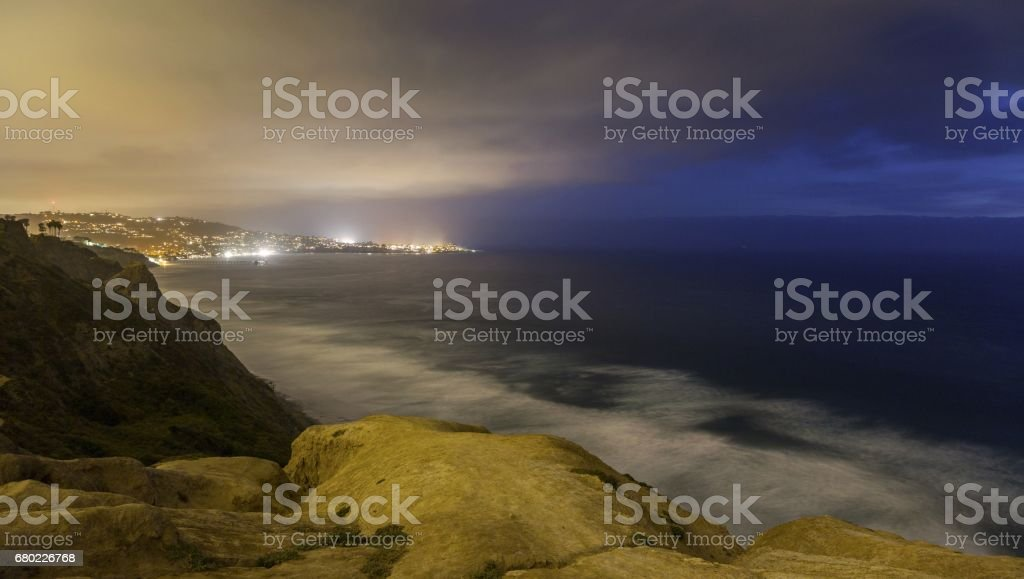 La Jolla San Diego California Pacific Ocean Twilight stock photo