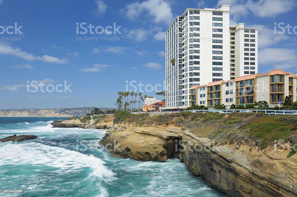 La Jolla Waterfront stock photo