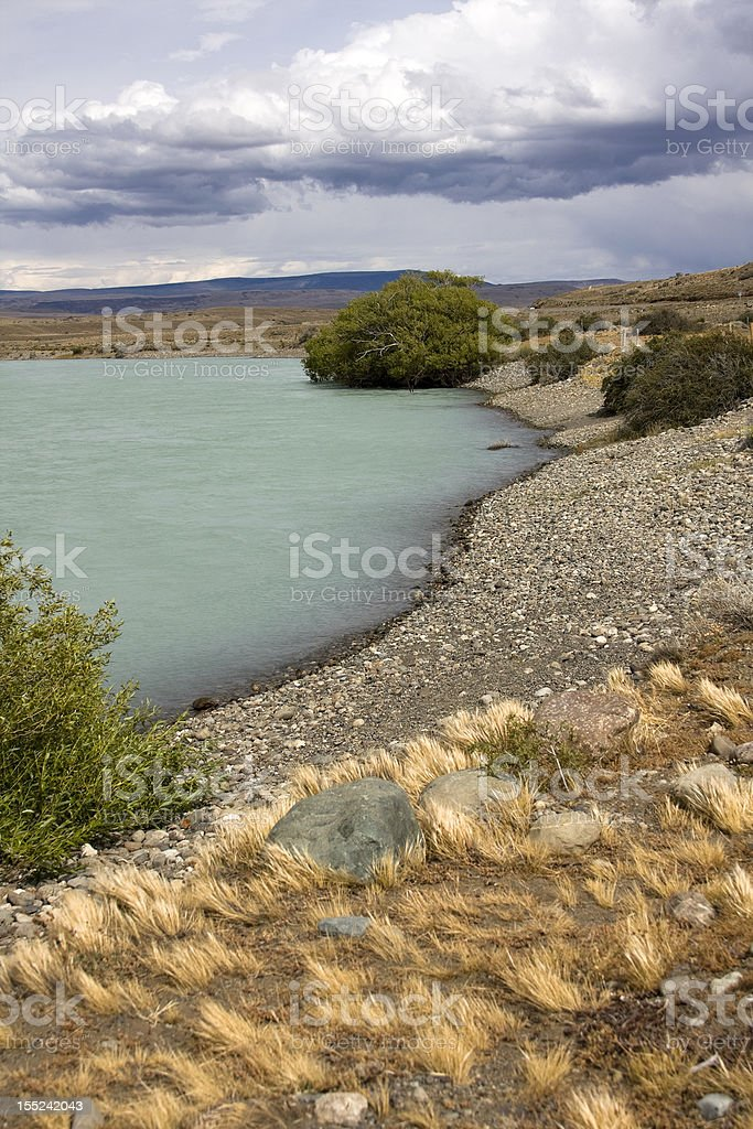 'La Leona' River in Patagonia royalty-free stock photo