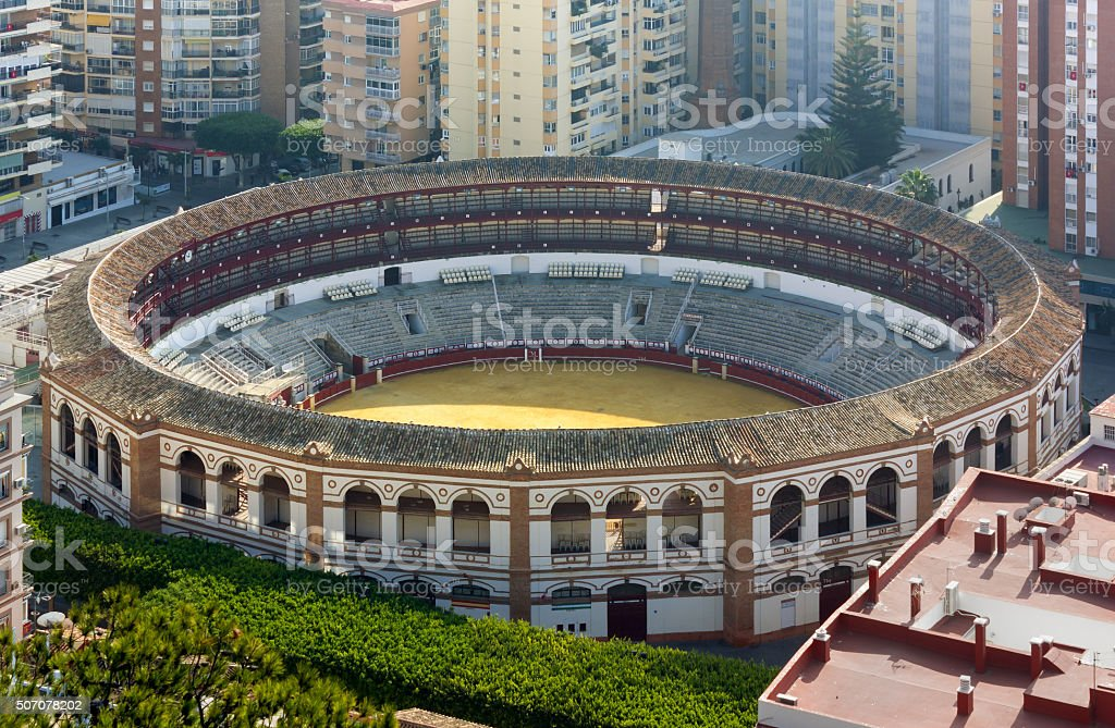 La Malagueta Plaza te Toros in Malaga stock photo