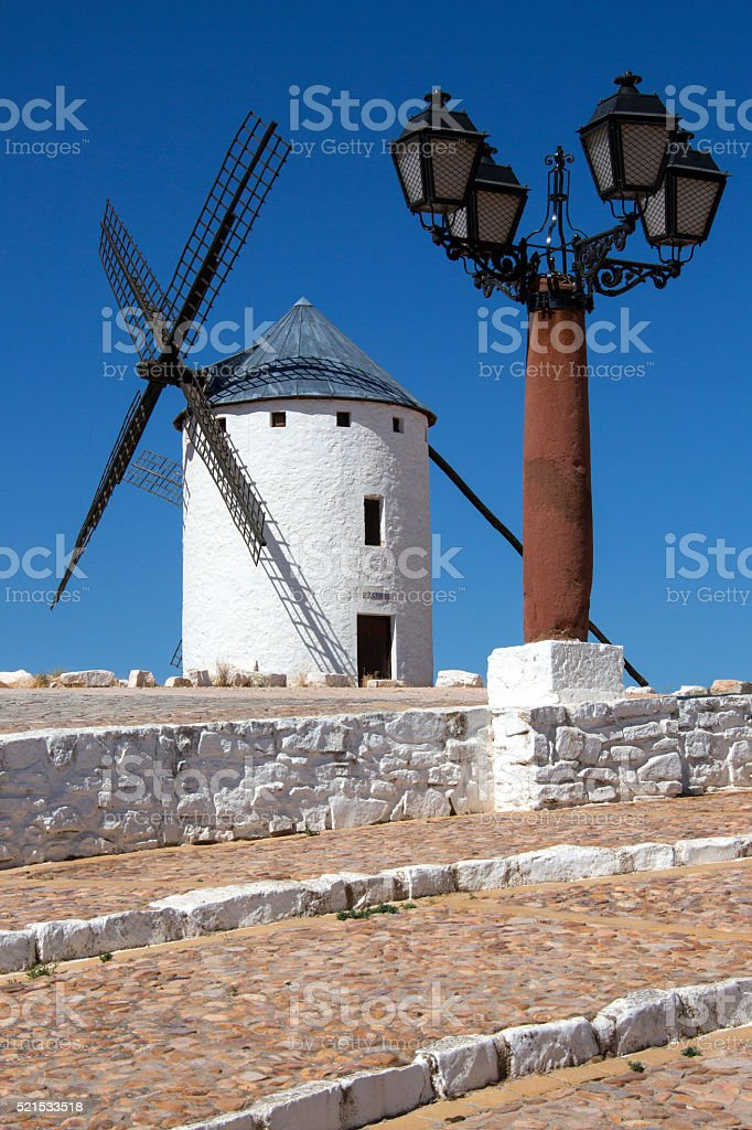 La Mancha Windmills - Spain stock photo