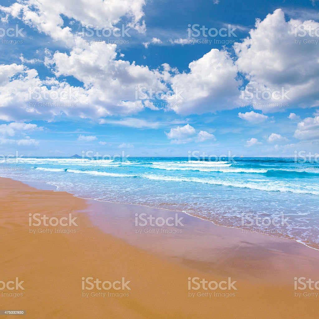 La Manga del Mar Menor beach in Murcia Spain stock photo