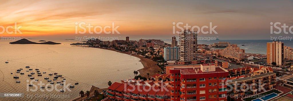 La Manga del Mar Menor Skyline, Murcia, Spain stock photo