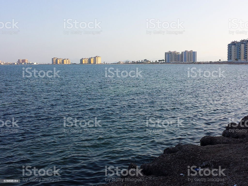 La Manga of the mar menor, Murcia Spain stock photo