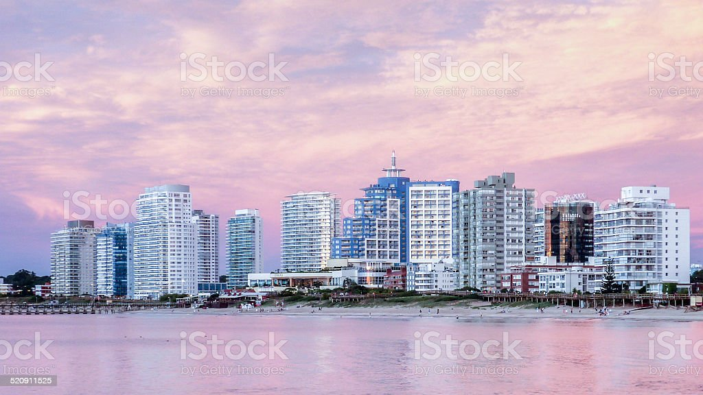 La Mansa Beach Punta del Este stock photo