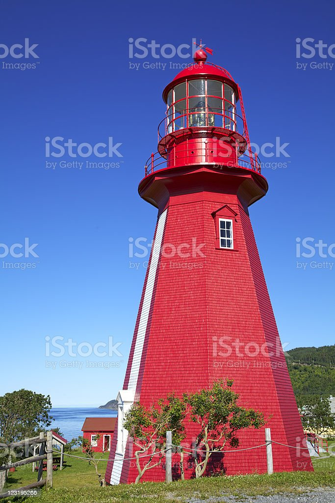 La Martre Lighthouse, Gaspesie, Quebec, Canada (XXXL) stock photo