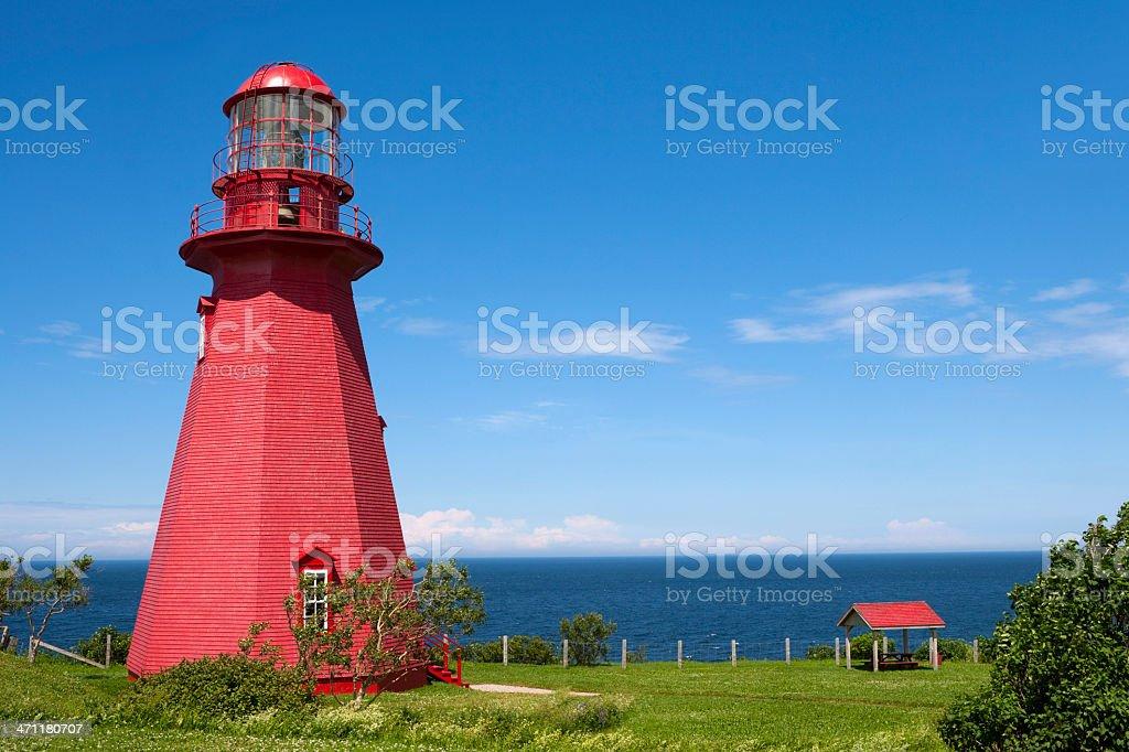 La Martre Lighthouse stock photo