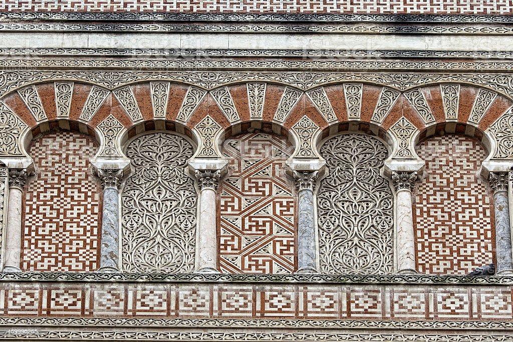 La Mezquita Cathedral in Cordoba Spain stock photo