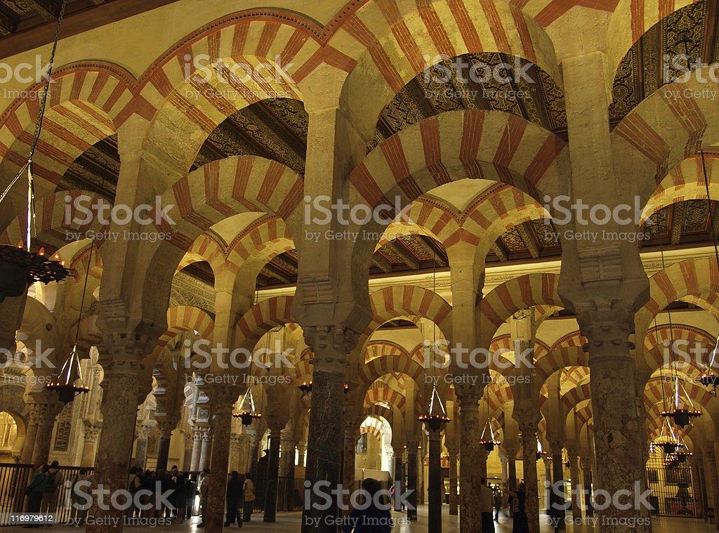 La Mezquita de Cordoba, Spain royalty-free stock photo