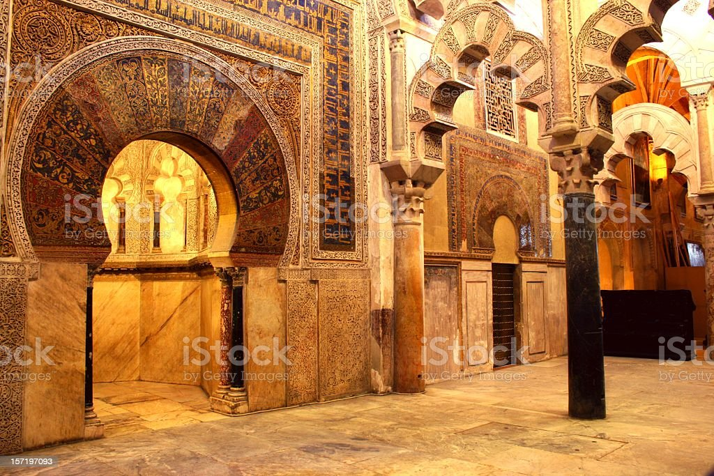 la mezquita - mosque of cordoba stock photo