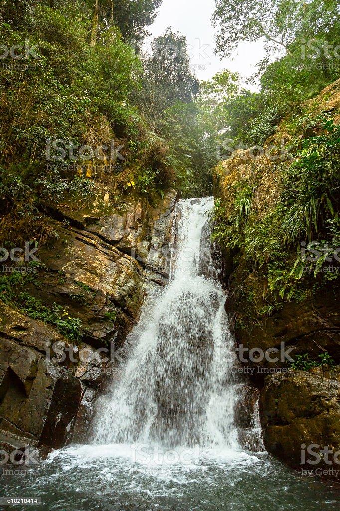 La Mina Falls in El Yunque stock photo