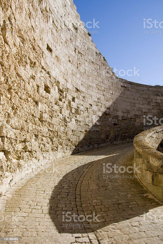 La Mola Fortress stock photo