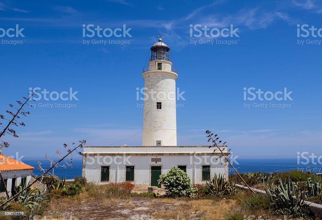 La Mola Lighthouse Formentera stock photo