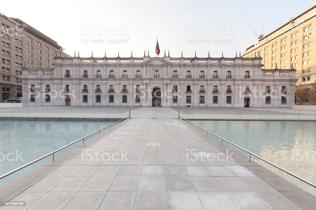 La Moneda palace stock photo