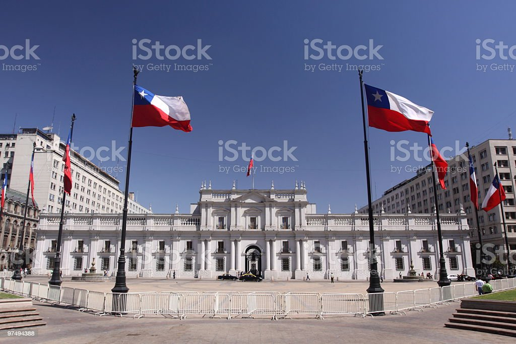 Palacio de La Moneda stock photo