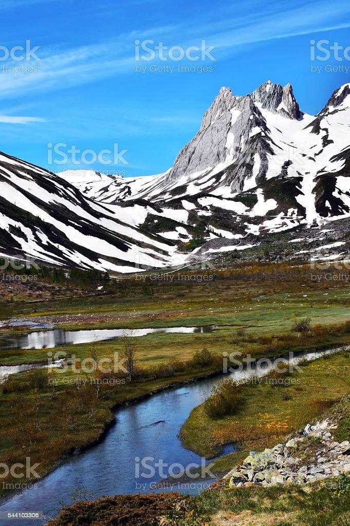 la montagna stock photo