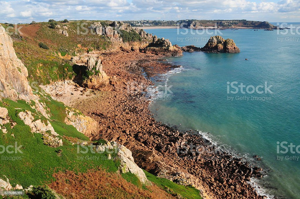 La Moye and St.Brelade Bay's, Jersey, U.K. stock photo