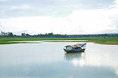 La Nga shifts floating village in Dongnai river, Vietnam