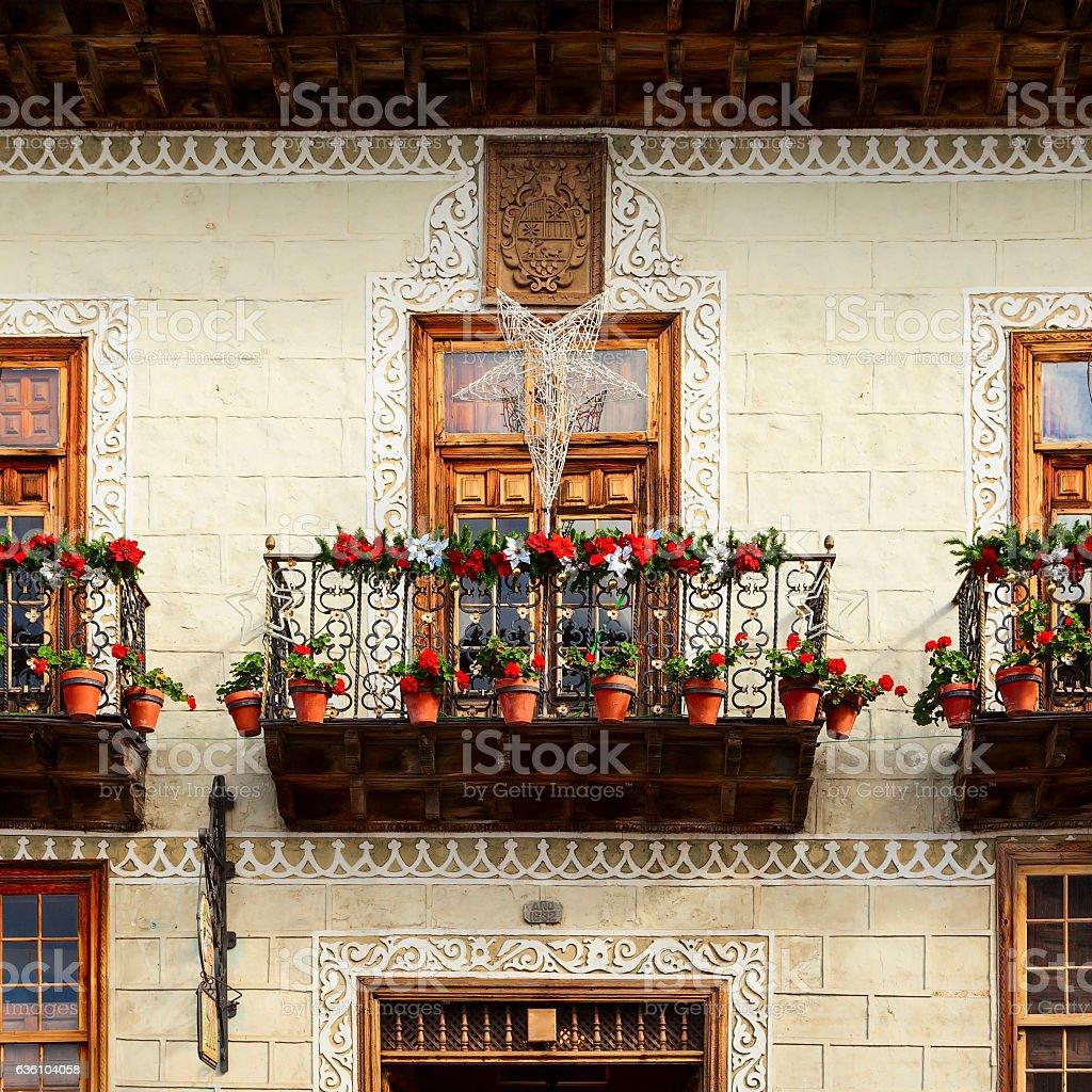 la orotava balcony stock photo