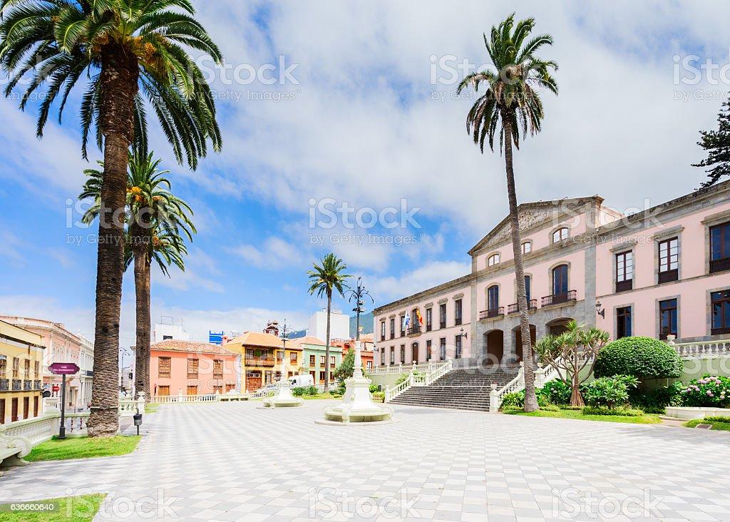 La Orotava, Tenerife village stock photo
