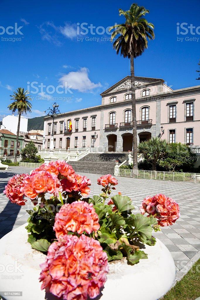 La Orotava town hall stock photo