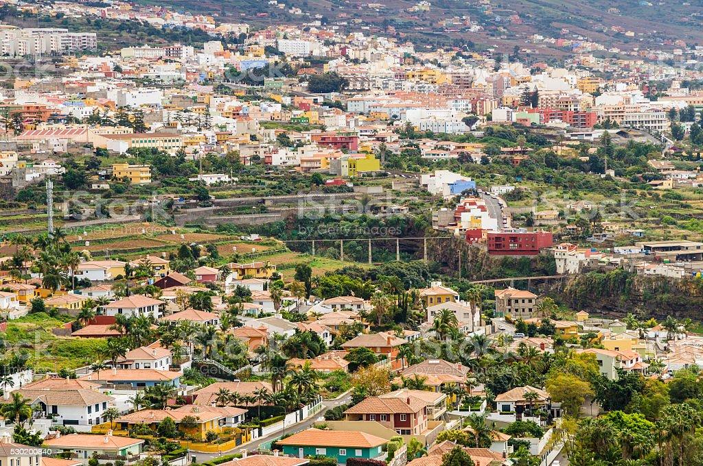 La Orotava town overlook, Tenerife, Spain stock photo