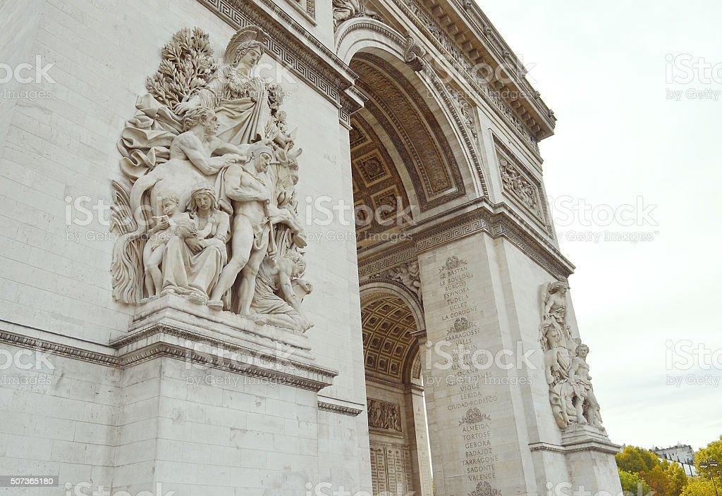 La Paix - Arc de Triomphe stock photo