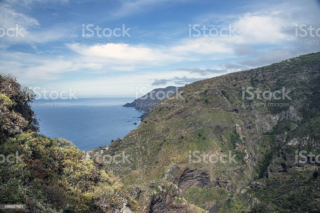 La Palma 2013 - Bucht bei Las Tricias stock photo
