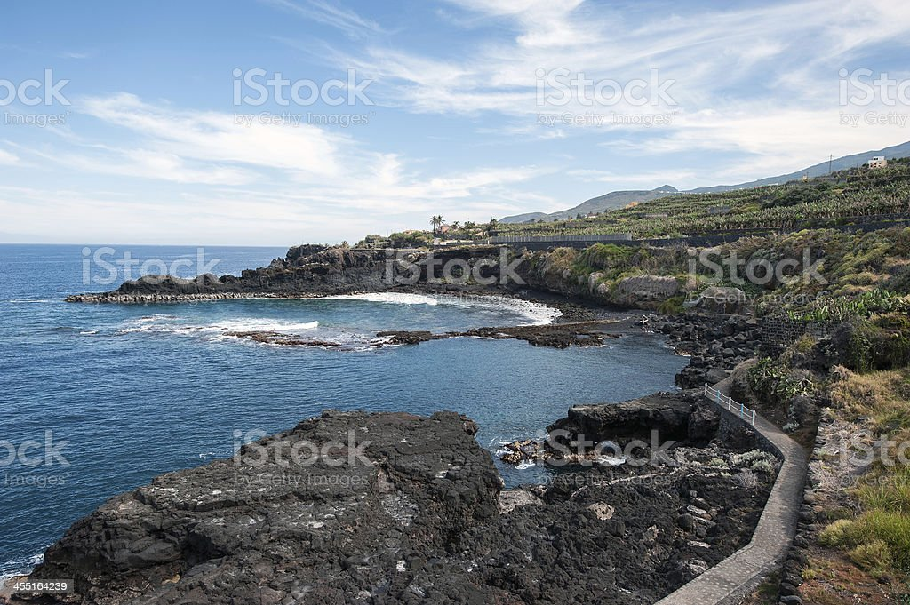La Palma 2013 - Charco Azul stock photo