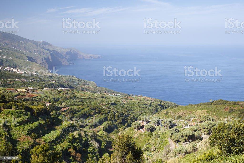 La Palma Coastal Landscape royalty-free stock photo