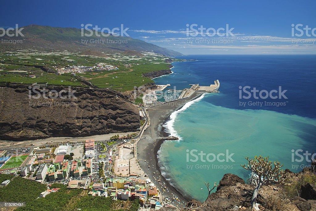 La Palma, view from viewpoint Mirador el Time stock photo