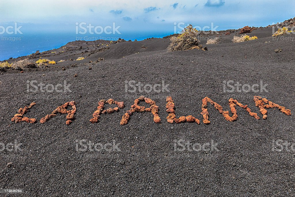 La Palma Written on Volcanic Soil royalty-free stock photo