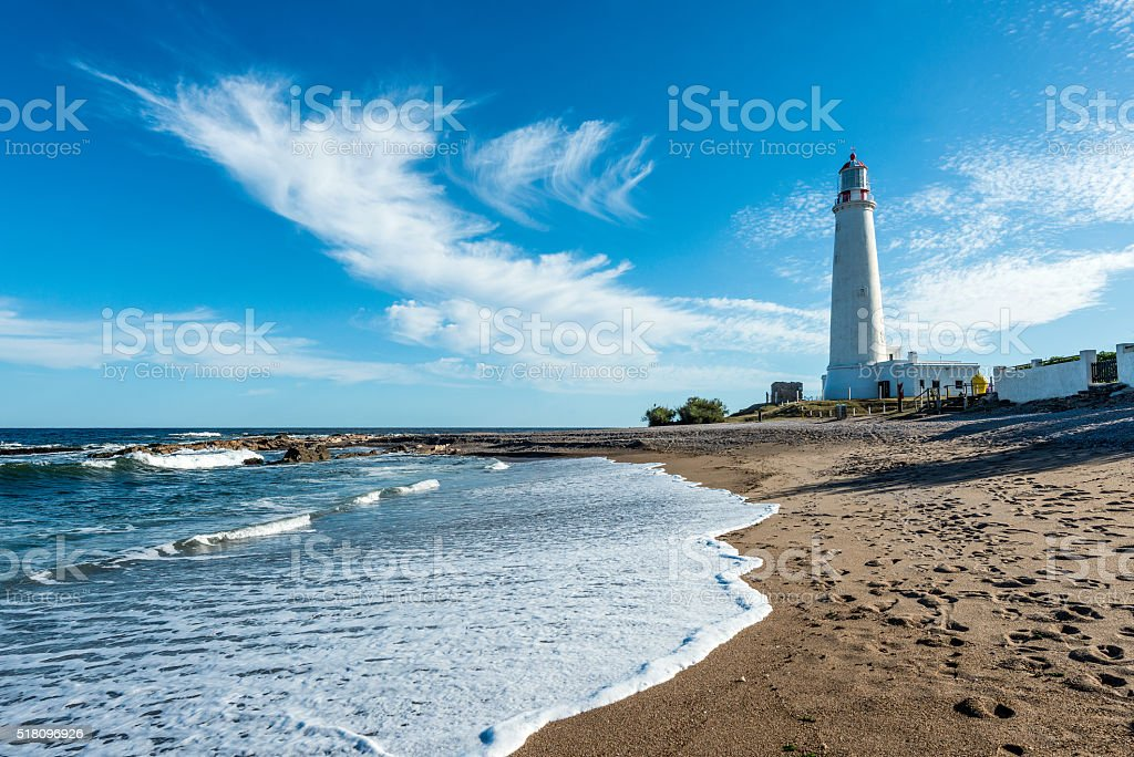 La Paloma lighthouse, Uruguay stock photo