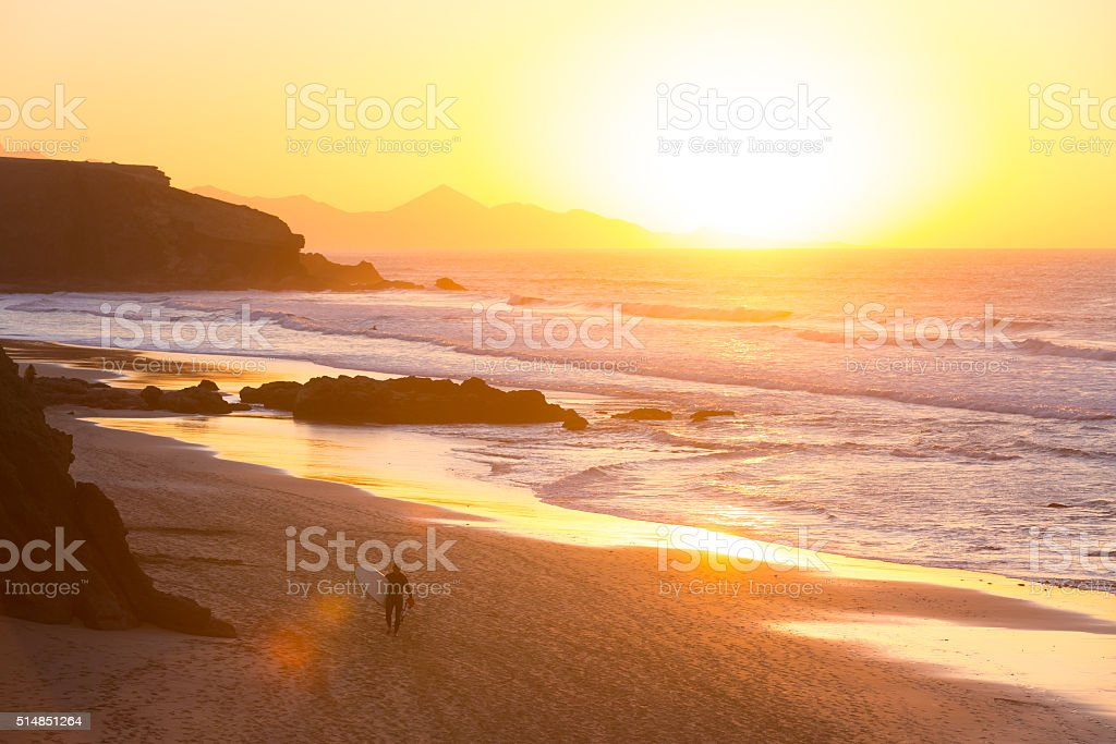 La Pared beach, Fuerteventura, Canary Islands, Spain stock photo