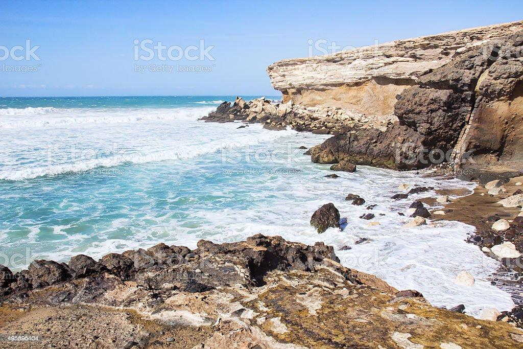 La Pared beach on Fuerteventura south west coast stock photo