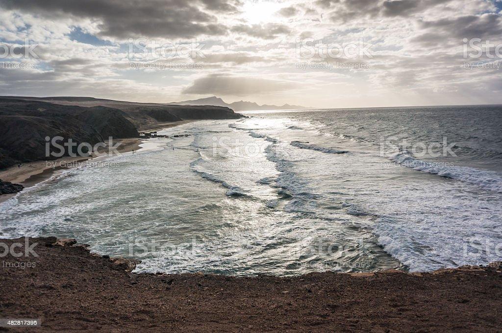 La Pared beach stock photo