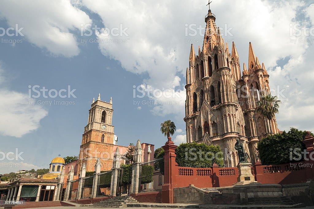 La Parroquia of San Miguel de Allende stock photo