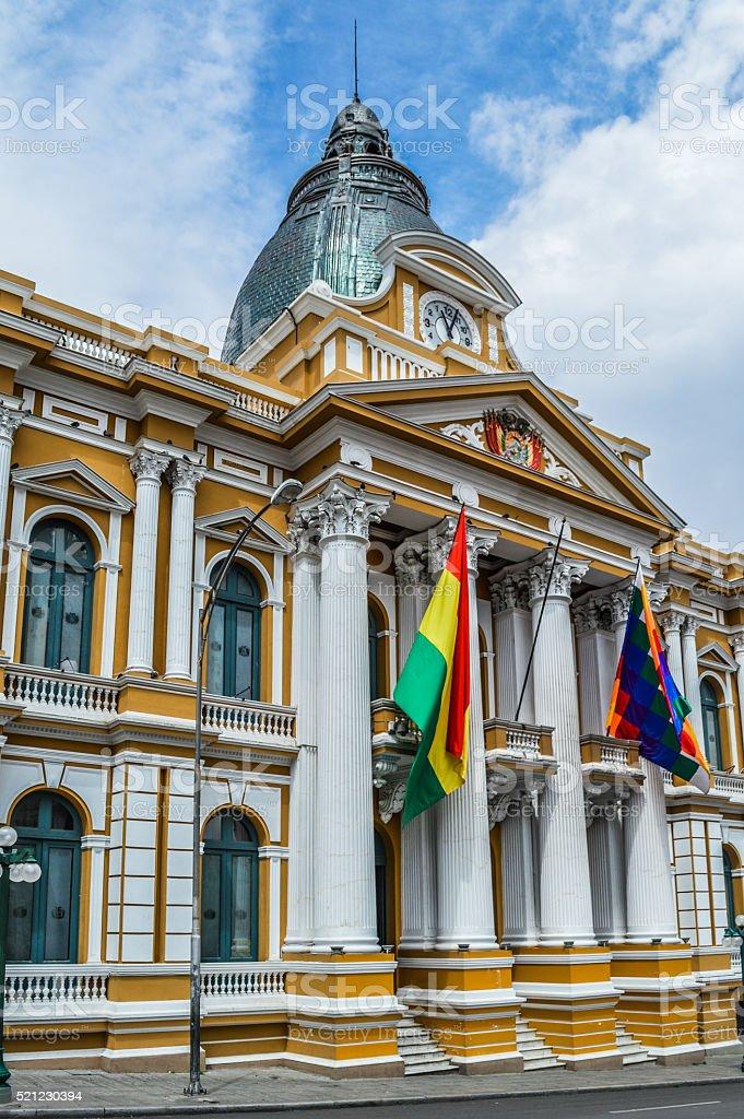 La Paz, Bolivia - Government Palace in Plaza Murillo stock photo