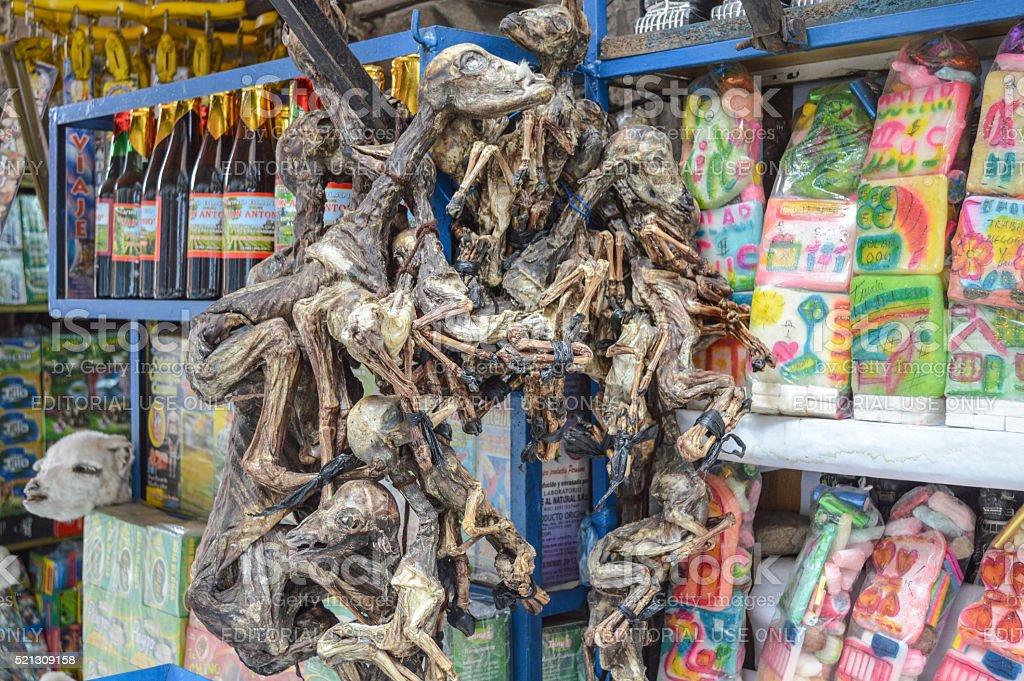 La Paz, Bolivia - Witches Market stock photo