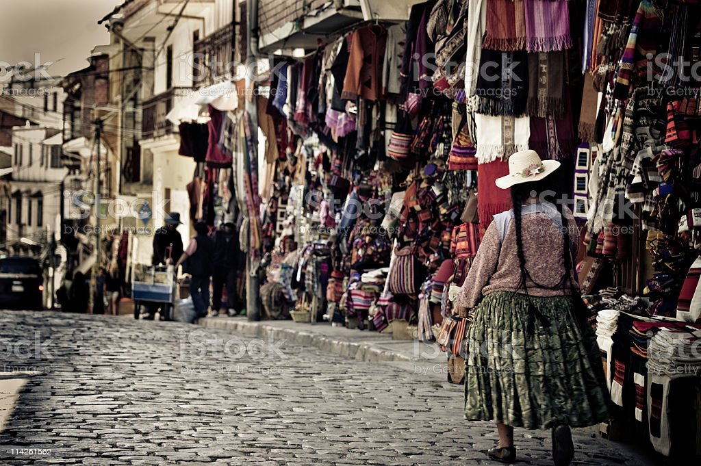 La Paz street, Bolivia royalty-free stock photo