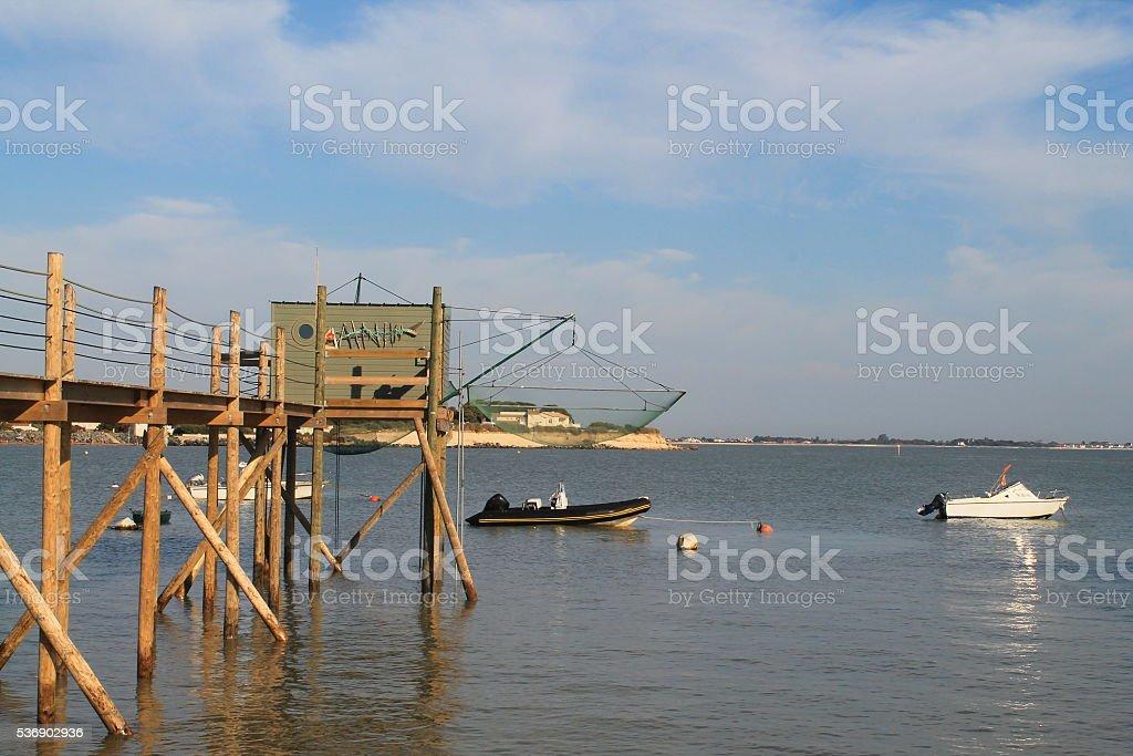 La Péche au Carrelet à La Rochelle, France stock photo