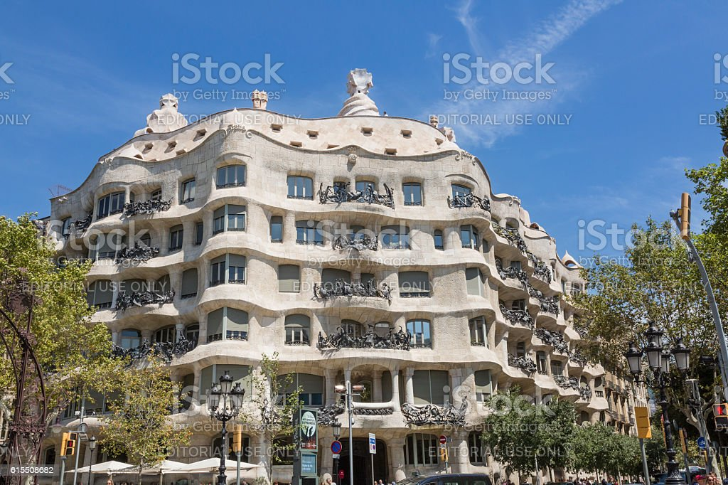 La Pedrera in Barcelona stock photo