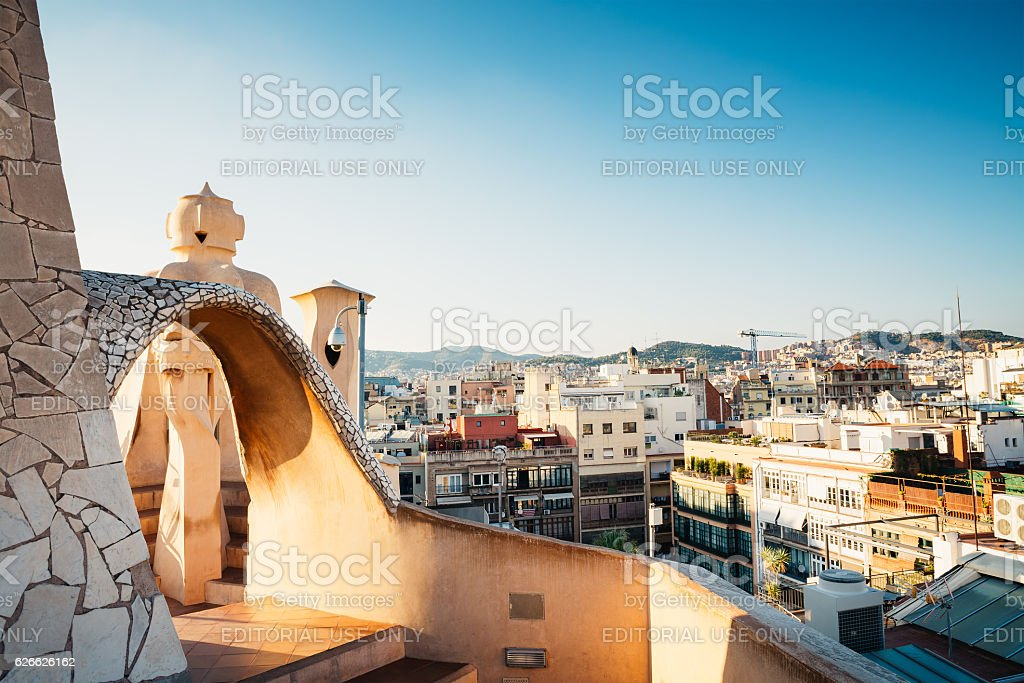 La Pedrera Rooftop stock photo