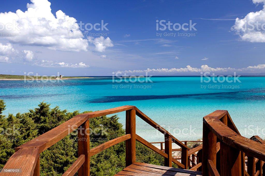 La Pelosa beach (Sardinia,Italy) stock photo